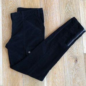 VS Black Velvet Cargo Pants w/Zip Ankle & Pockets